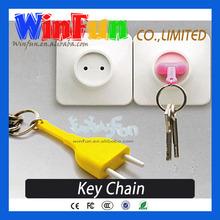 Innovative Keychain Socket And Plug Design Plastic Keychain