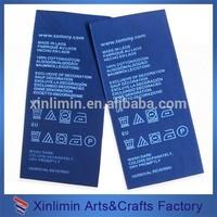 wholesale high quality fashion custom printed satin ribbon label