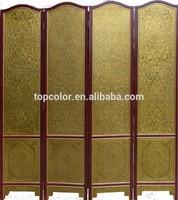 easy wooden cheap folding screen room divider