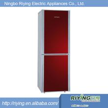 White/red stainless steel industrial fridge freezer