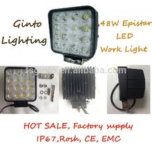"""2015 new led 48W worklight, led work light 48 watt , 4.5"""" square 48W led work light"""