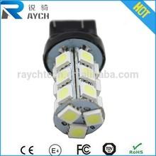 Free Shippinh 2 x LED Car Brake Rear Stop Light Bulb Lamp WY21W W21/5W 7443 T20 18SMD 5050 LED 360 Lighting