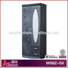 W662-50 fashional and modern designed Black wardrobe closet