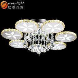 Modern cristal chandelier light light chandelier specification zhongshan guzhen lighting factory OM9002-7W