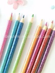 Glitter wooden color pencil