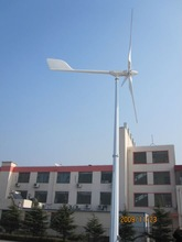 High efficiency and safe ANE 5kW home use pitch controlled wind turbine with controller, inverter and pole