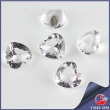 white clear color poplar standard size heart shape glass gems