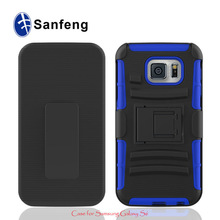 Silicone Rubberized Belt Clip Cell Phone Cases Bags For Samsung Galaxy S6