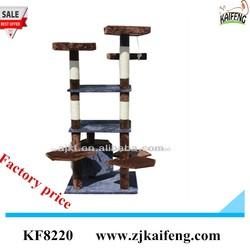 Anji kaifeng Top quality Cheap plush cat tree cat climbing tree pet toys 62*62*170cm