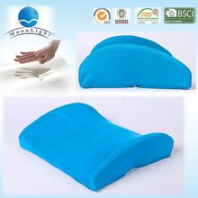 Round shape tube back support memory foam cushion