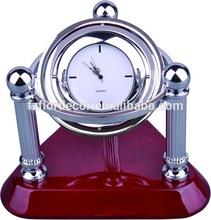 gift rotating globe table clock novelty promotional globe desktop quartz clock