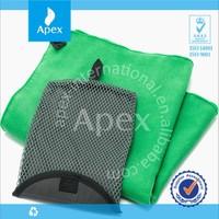 custom printed microfiber double side velour beach towel with bag