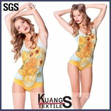 Customized Polyester/Nylon Spandex Swimwear fabric with good colorfastness