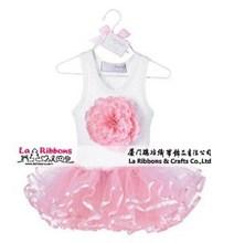 Lace fashion kids party wear girl dress wholesale