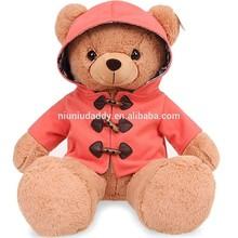 "Niuniudaddy Plush toy Teddy bear red dress Color Brown 27.5"""