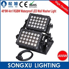 TOPPEST!!!48*8W 4in1 RGBW Waterproof LED Stage Wall Washer Light/SX-WL4808