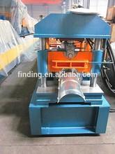 zinc coated steel roof ridge cap cost/price roll forming machine