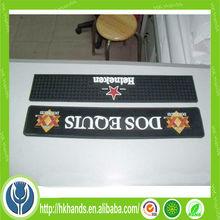3D OEM logo soft pvc rubber vinyl branded bar mats