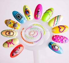 New China Professional 120tips clear acrylic nail polish display chart flower nails display