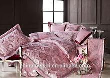Elegant style wholesale price rayon silk jacquard duvet cover set