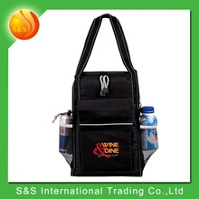 2015 newest design usable insulated wine tote bottle cooler bag