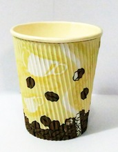 Ripple wall wholesale coffee cups, hot drinking ripple paper cups&disposable ripple paper cup