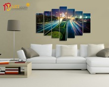 Modern city night scenery art painting for living room