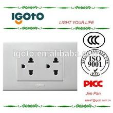Igoto A10 range america style 15A double universal america socket outlet