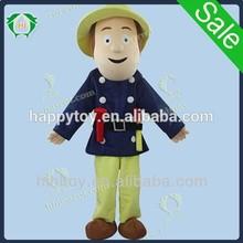 HI CE high quality Fireman Sam mascot costume,firefighter costume