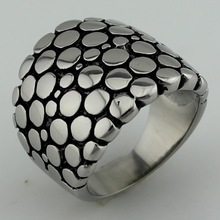 fashion stainless steel dot ring