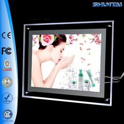 China made LED acrylic ultrathin light box crystal photo frame