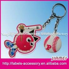 Eco-friendly fashion custom mini basketball 3d pvc silicon keychain