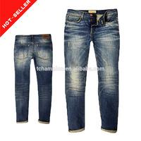 (#TG0036-1M) 2015 garment factory 100% cotton denim jean fabric fotos de mujeres en brand men jeans pants in bangladesh
