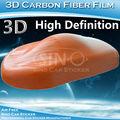 5FT * 98FT voiture emballage Air Bubble gratuit 3D en Fiber de carbone bande