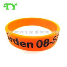factory direct free design orange color debossed silicone bracelet in 2015