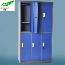 Clothes storage 6 door steel/metal locker /knock down gym metal locker /school metal locker