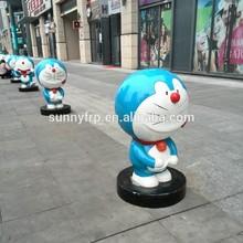 FRP cat cartoon sculpture for playground