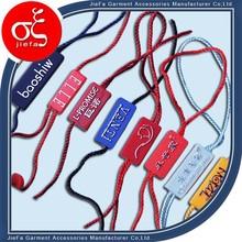 Profession Custom Plastic Seal Tag,Plastic String Lock Tag For Clothing, Shoes, Umbrella,Toys,bags