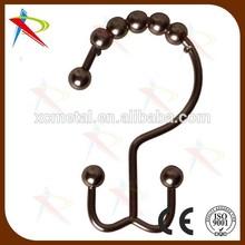Glide de cuentas de acero rodillo de la ducha ganchos anillos antioxidante