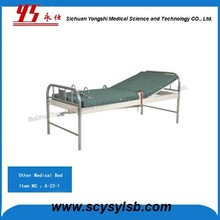 Steel folding Psychiatric hospital restraint bed for patients