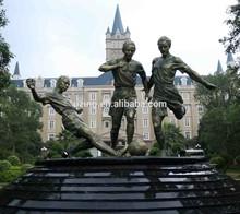 Outdoor Bronze Sculpture Football Game Sculpture UZ-SP36