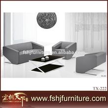 luxury carved office leather sofa set , hotel sofa set , living room sofa set TX-222