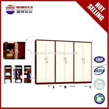 metal design bedroom wall cupboard / steel wardrobe cupboard