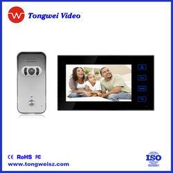 """7"""" Color TFT LCD screen video door phone, door phone 4 family"""