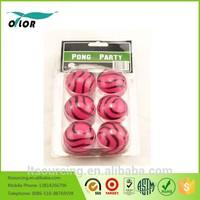 6 pack PP color beer pong balls