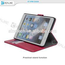 for apple ipad mini 3 stand case detachable, thin design for apple ipad mini 3 leather case