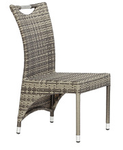 rattan garden dining side chair big dining chair stackable chair