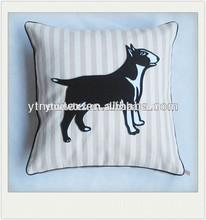 poly-linen fabric dog applique children neck pillows for sale