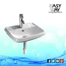 2015 New Product Traditional Ceramic Sanitary Ware Bathroom Glass Basin
