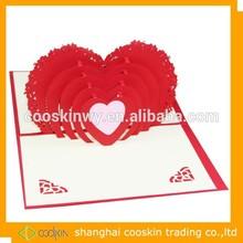 heart shape greeting card